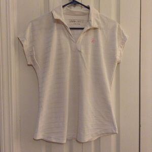 Lady Hagan Sz S Breast Cancer Golf Shirt